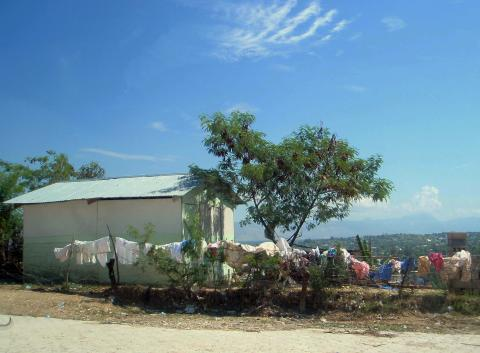 In the middle of the city of Port-au-Prince