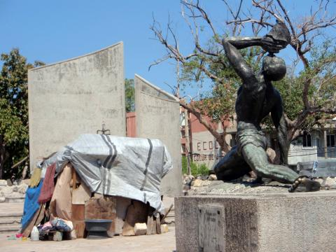 The statue of the Unknown Cimarron