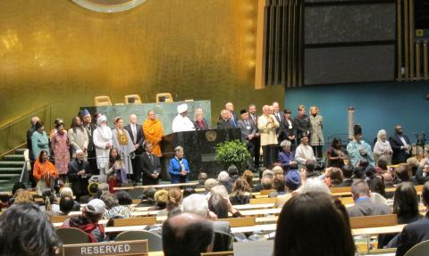 UN Religious Leaders gathered in the UN chamber for World Interfaith Harmony Week