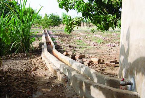 Irrigation channels at the Hope Agricultural College of Bougoudang